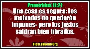 Proverbios 11:21