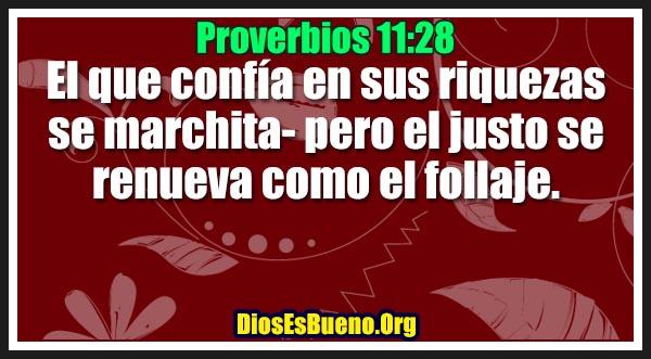 Proverbios 11:28