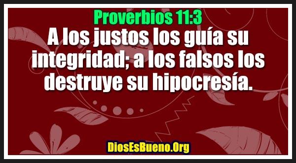 Proverbios 11:3