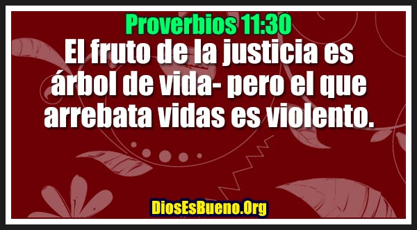Proverbios 11:30