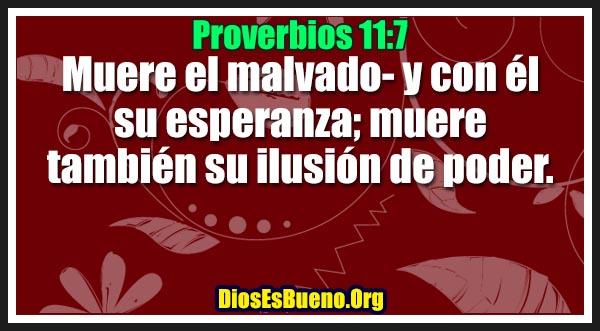 Proverbios 11:7