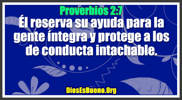 Proverbios 2:7