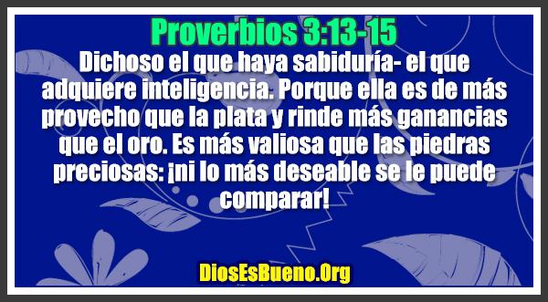 Proverbios 3:13-15