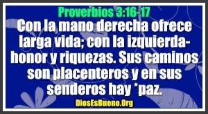 Proverbios 3:16-17
