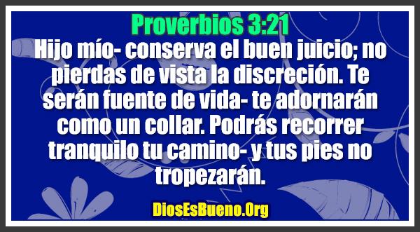 Proverbios 3:21