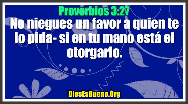 Proverbios 3:27