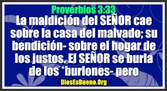 Proverbios 3:33