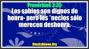 Proverbios 3:35