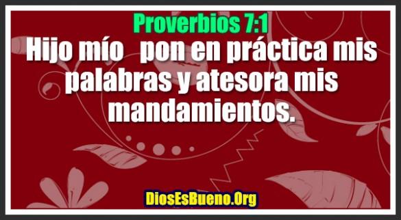 Proverbios 7:1