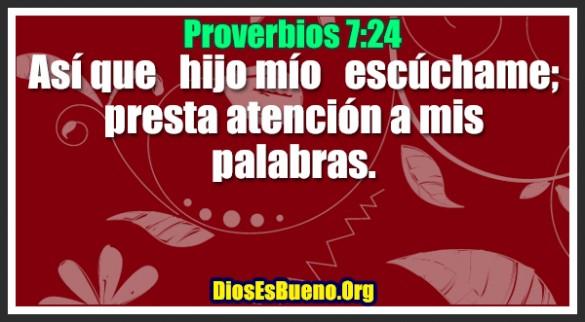 Proverbios 7:24