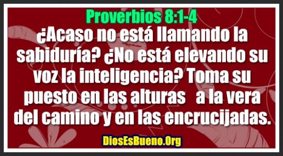 Proverbios 8:1-4
