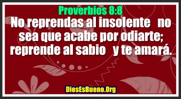 Proverbios 8:8