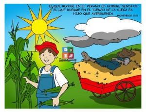 El hijo prevenido se abastece en el verano proverbios 10:05