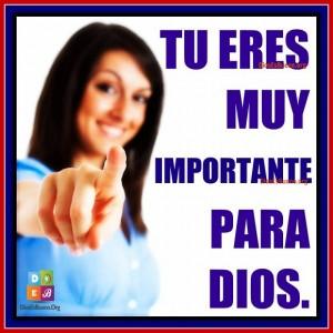 eres importante para Dios