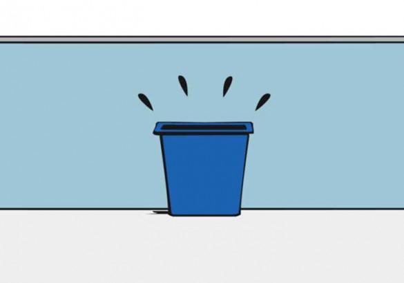 01 esperimento social, cesto de basura