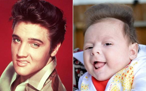Bebes parecidos a famosos, Elvis Presley