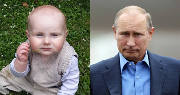 Bebes parecidos a famosos, Vladimir Putin
