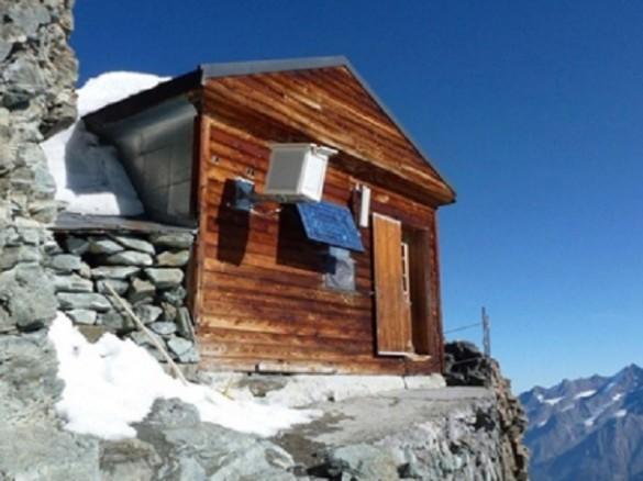 Uno de los lados del refugio montaña Matterhorn