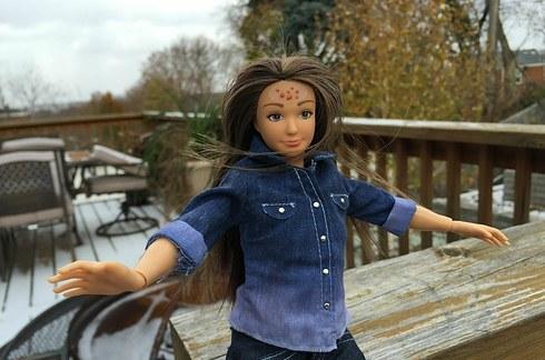 Lammily la nueva Barbie,con erupcion en la piel