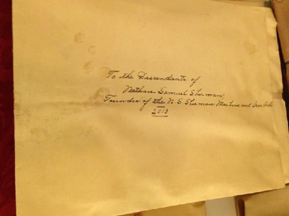 carta de nathan samuel sherman