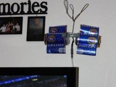 los problemas siempre tienen solucion, antena de alambre