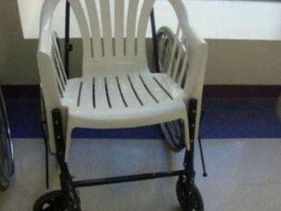 los problemas siempre tienen solucion, silla de ruedas con otro asiento
