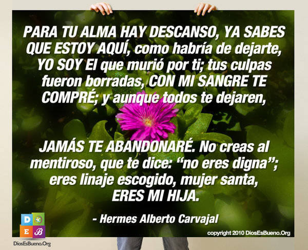 PARA TU ALMA HAY DESCANSO  | Hermes Alberto Carvajal