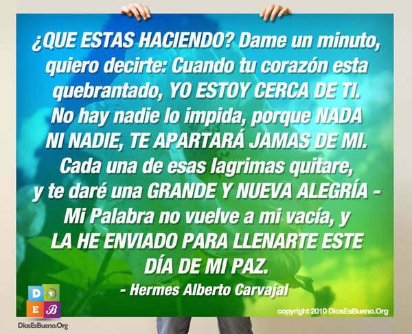 QUE ESTAS HACIENDO? Dame un minuto | Hermes Alberto Carvajal