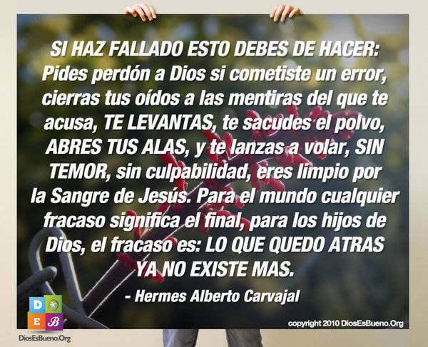 SI HAZ FALLADO ESTO DEBES DE HACER | Hermes Alberto Carvajal