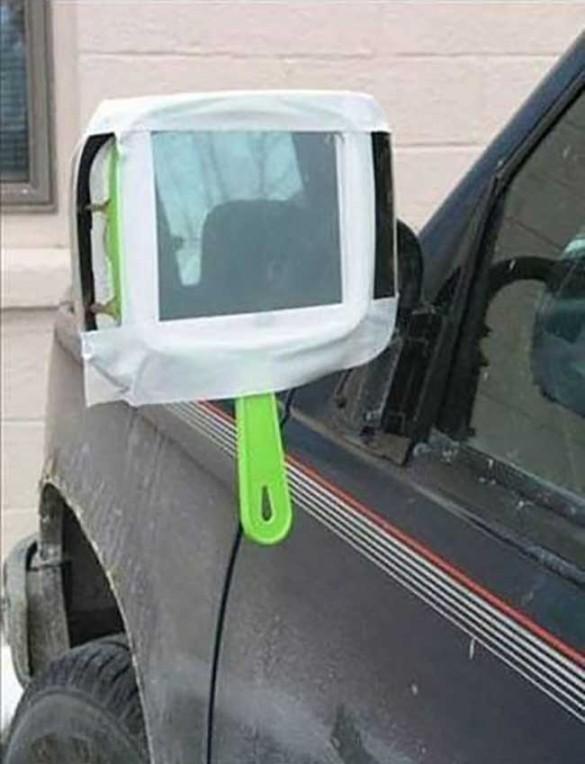 018 soluciones ingeniosas, cualquier espejo sirve cuando no tienes ninguno