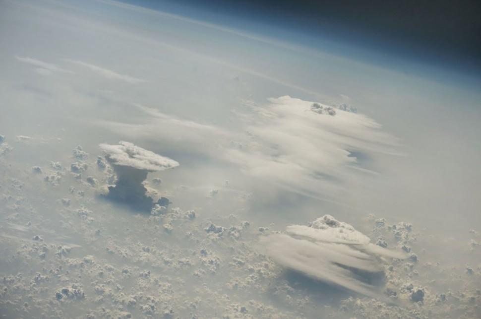 029 Las nubes cumulonimbos sobre Nigeria.
