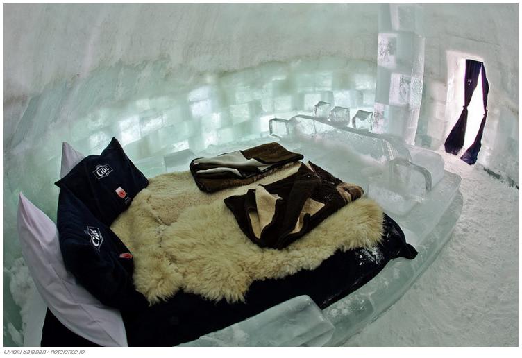 19 El Balea Ice Hotel en Cîrţişoara, Rumania