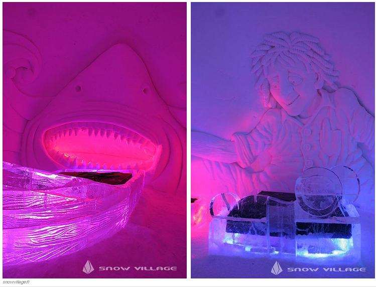 32 El SnowVillage Snow Hotel en Kittilä, Finlandia