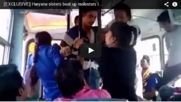 Hermanas enfrentan abusadores en autobús VIDEO