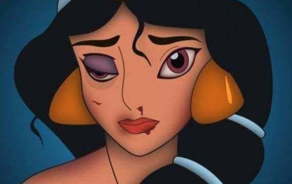 Princesas Maltratadas: Un  Artista Utiliza A Las Princesas De Disney Para Una Campaña Contra La Violencia Doméstica