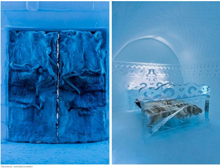 Lugares increíbles hechos de hielo