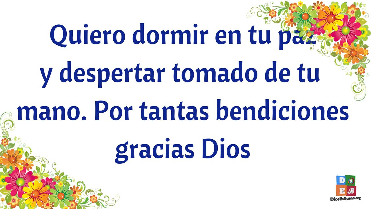 Oración agradeciendo el amor de Dios.