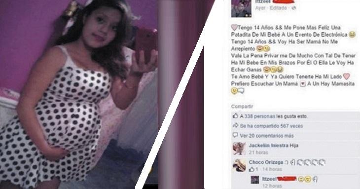 Niña de 14 años publicó la foto de su embarazo en Facebook. Sus amigos llamaron a la policía