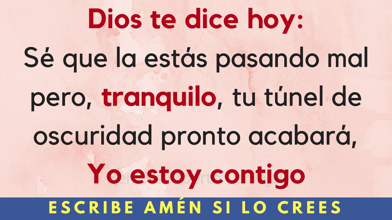 Dios te dice hoy
