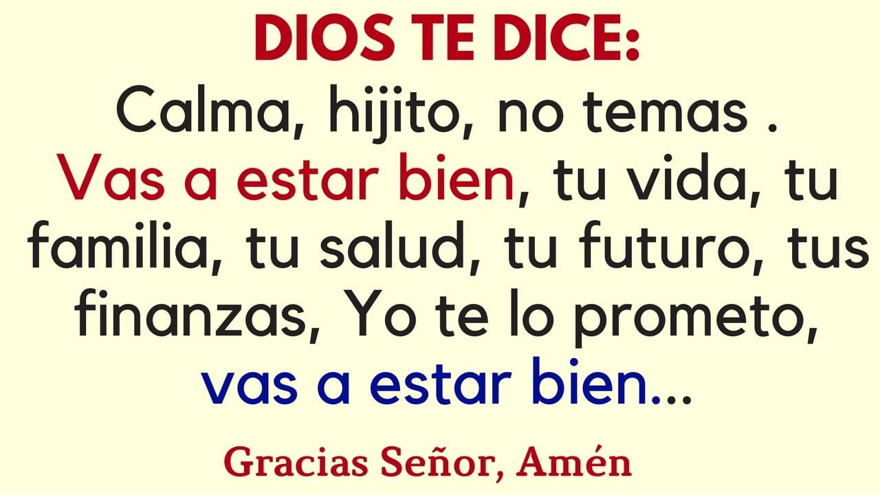 Dios te dice