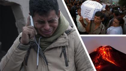 6 hermanitos murieron abrazados tras la erupción del volcán en Guatemala