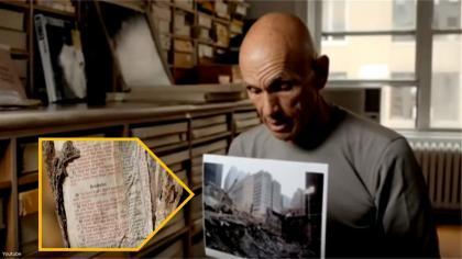 La Biblia fusionada en acero después de los ataques del 9-11 envía un mensaje impactante al mundo