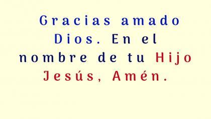 Oración por un nuevo día.