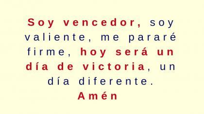 Oración por un dia de victoria
