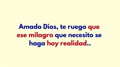 Oración a Dios por un milagro sobrenatural.
