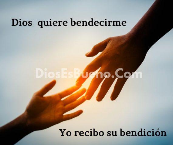 Si DIos quiere bendecirte tu recibe su bendicion
