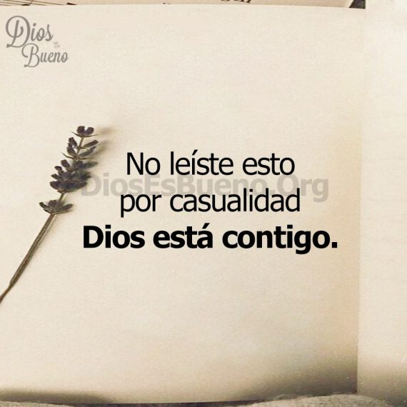 No leiste por casualidad, Dios está contigo